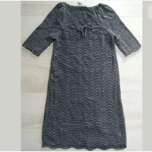 Old Navy Gray Silver Sparkle Sweater Dress Girls 8